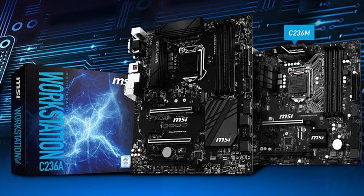 По словам производителя, платы серии MSI C236 оптимизированы для профессионального и промышленного использования