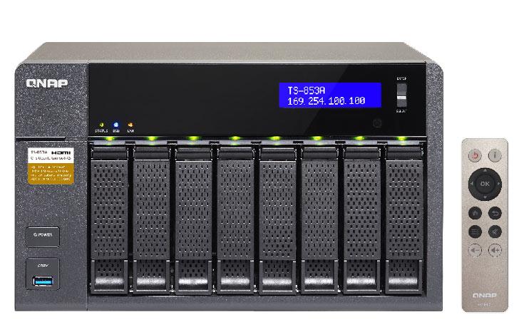 Сетевые хранилища серии QNAP TS-x53A имеют средства аппаратного ускорения перекодирования видео и шифрования