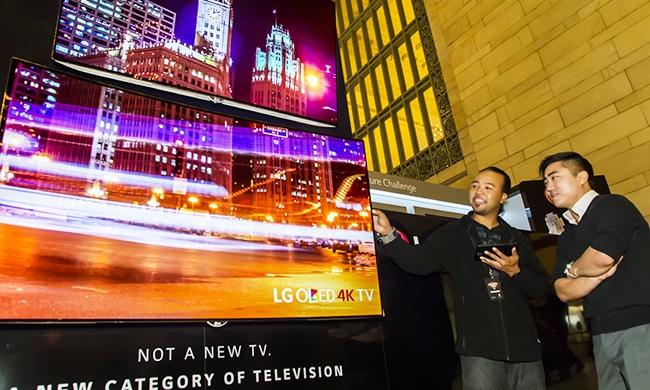 LG приготовила большую гибкую панель OLED