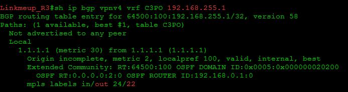 Сети для самых маленьких. Часть одиннадцатая. MPLS L3VPN - 58