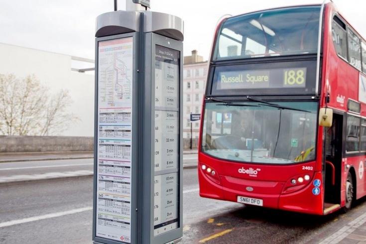Автобусные остановки Лондона получат современные инфостенды