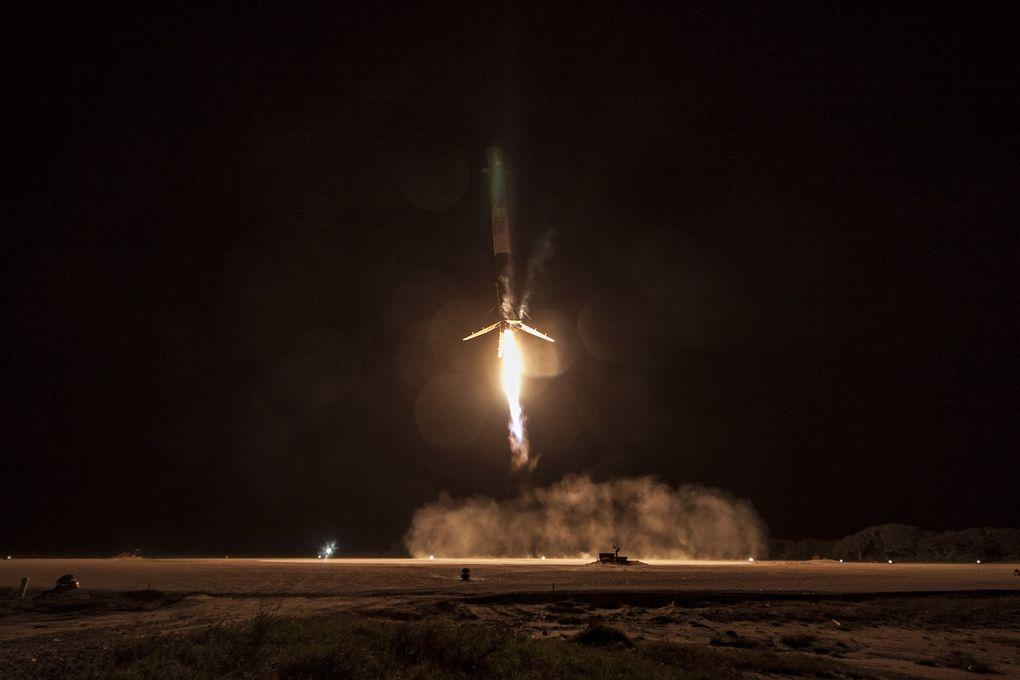 Компания SpaceX выложила hi-res фотографии взлета и приземления Falcon 9 - 5