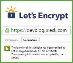 Let's Encrypt в Plesk-панели - 1