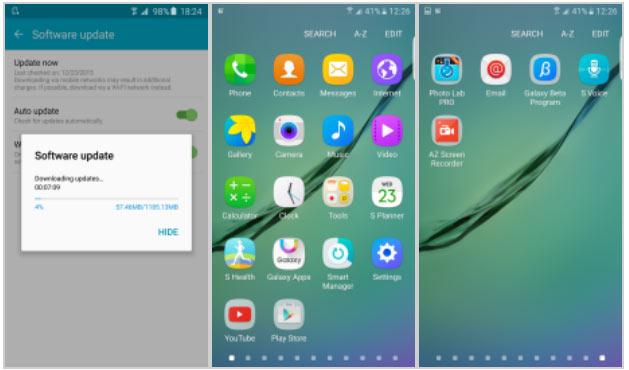 Пока новая версия ОС для Samsung Galaxy S6 и S6 edge доступна в Великобритании