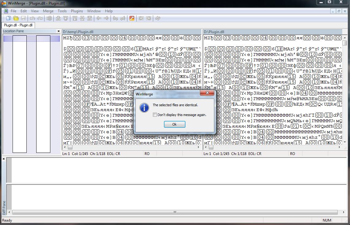 Как я искал (и нашел) разницу в двух побайтово идентичных файлах - 1