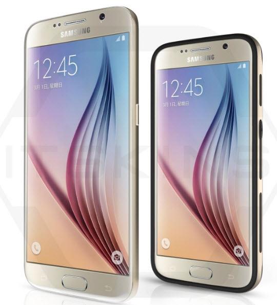 ITSkins опубликовала новые изображения смартфонов Samsung Galaxy S7 и Galaxy S7+ - 1
