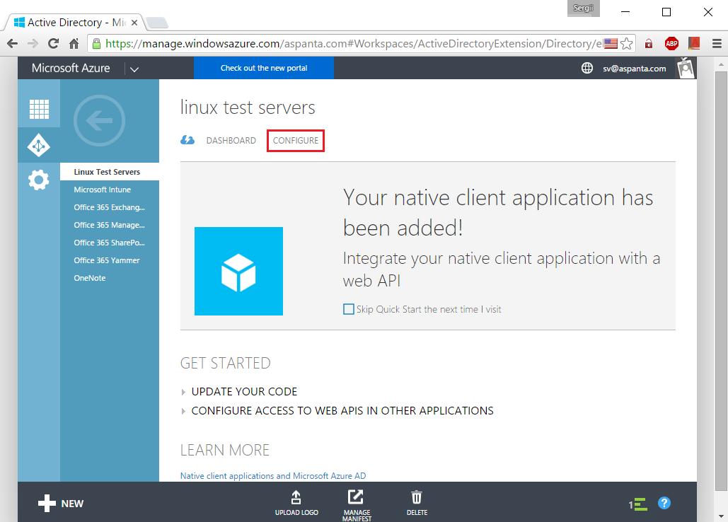 Авторизация в Ubuntu через Microsoft Azure AD - Office 365 - 7