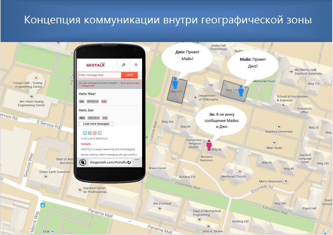 Прототип сервиса обмена сообщениями Geotalk - 3