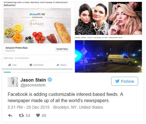 Facebook тестирует новые тематические новостные ленты (и не только) - 2