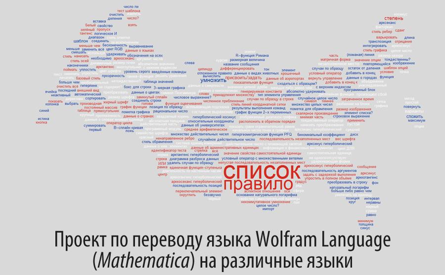Проект по переводу языка Wolfram Language (Mathematica) на различные языки - 1