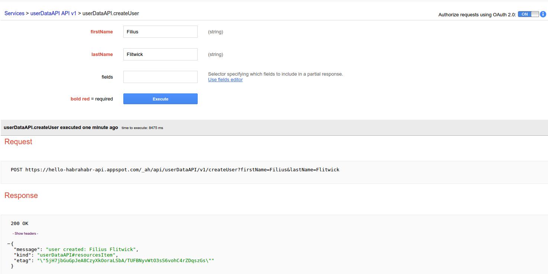 Работа с базой данных в Google App Engine-Google Cloud Endpoints на Java: фреймворк Objectify - 1