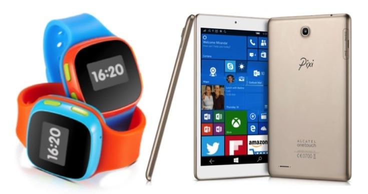 Alcatel готовит мобильные устройства Pixi и часы CareTime Children's Watch