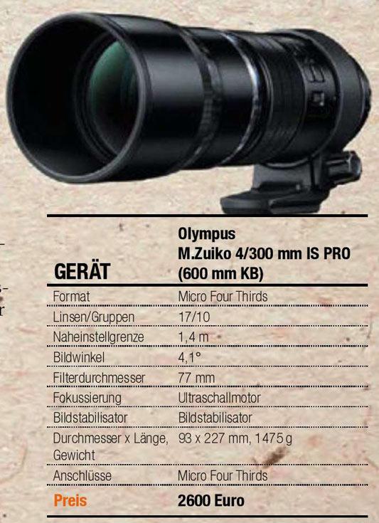 Стали известны технические данные и цена объектива Olympus M.Zuiko Digital ED 300mm F4 Pro