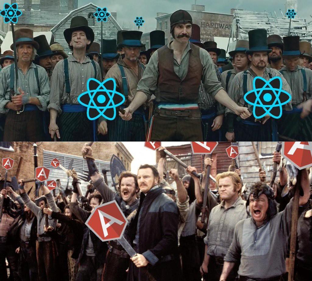 Angular 2 против React: И будет кровь - 1