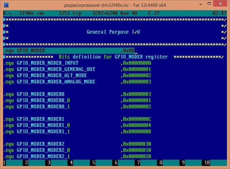 STM32F4: GNU AS: Мигаем светодиодом (Оживление) (Часть 2) - 12