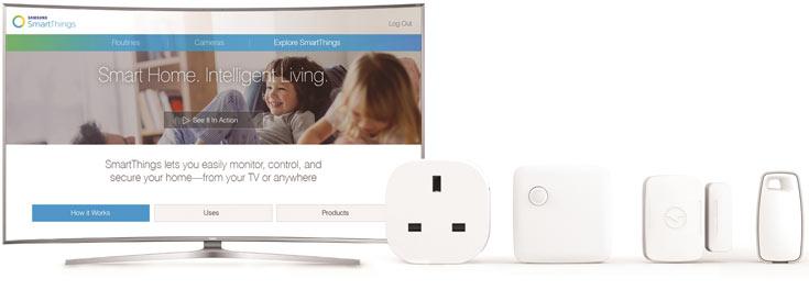 Телевизоры SUHD Samsung способны соединяться с устройствами на платформе SmartThings