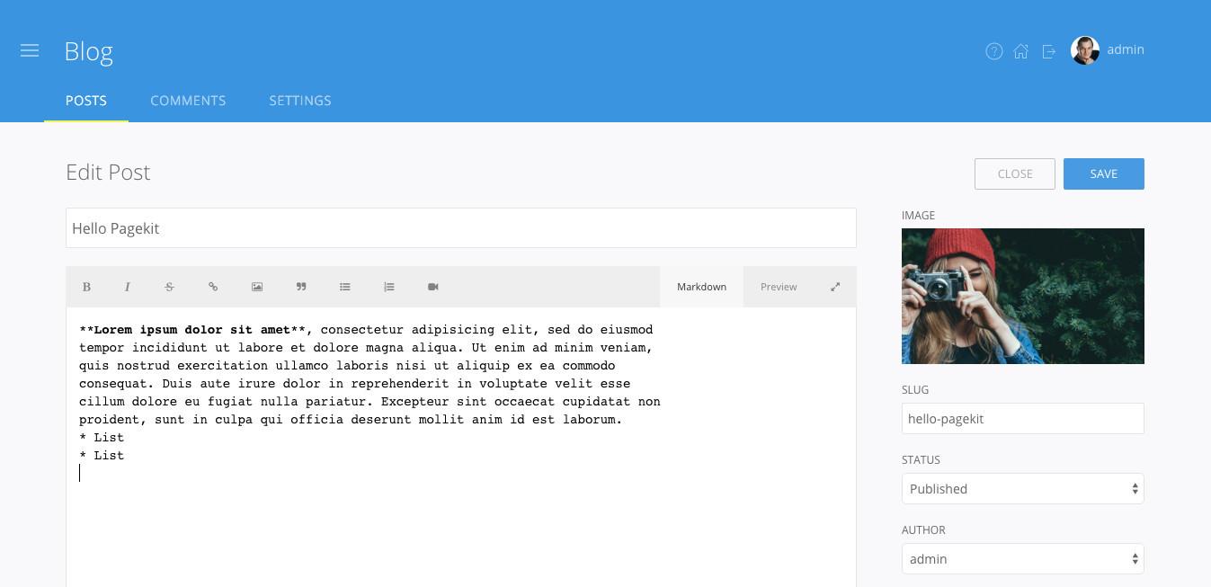 Pagekit: обзор модульной CMS на базе Symfony - 5