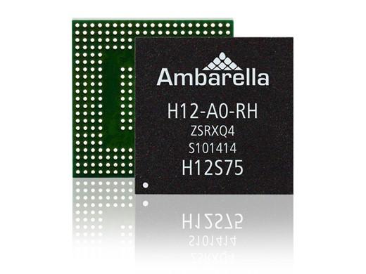Однокристальные системы Ambarella H2 и H12 поддерживают видео 4K Ultra HD
