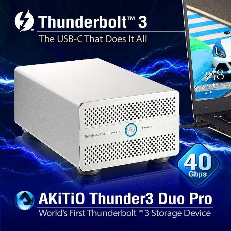 Продажи Thunder3 Duo Pro должны начаться в этом квартале по цене $389 (без накопителей)