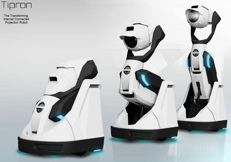 В сложенном состоянии робот Cerevo Tipron имеет габариты 300 x 340 x 400 мм