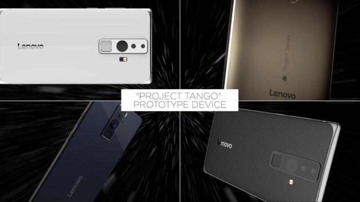 Lenovo показала смартфон Project Tango