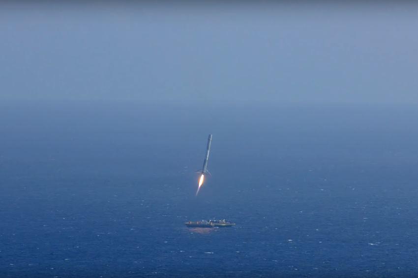 SpaceX снова собирается посадить Falcon 9 на морскую платформу - 1