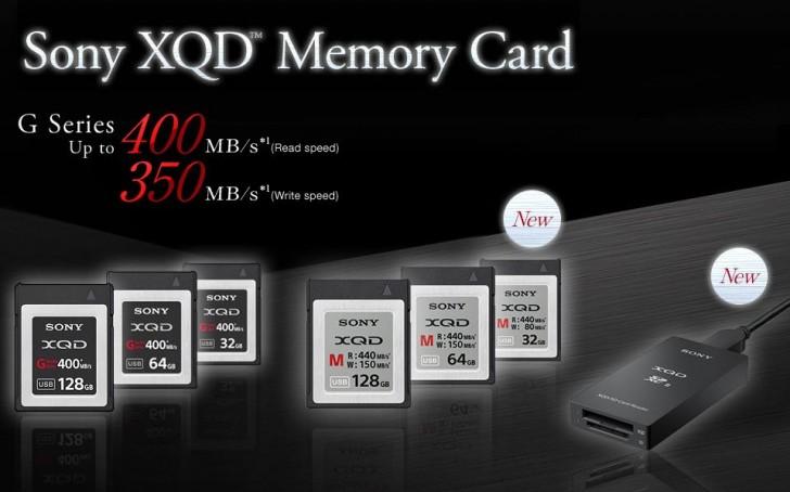 Карты памяти Sony XQD-M развивают скорость записи 440 МБ/с