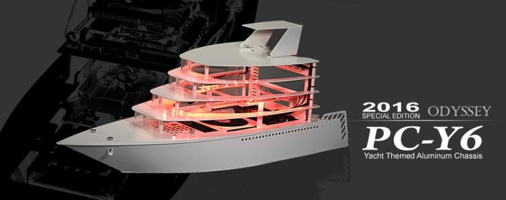 Корпус Lian Li PC-Y6 выглядит, как яхта