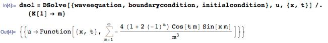 Новое в Wolfram Language | Аналитическое решение уравнений в частных производных - 5