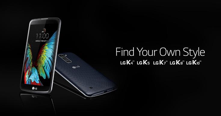 Скоро представят смартфоны LG K4, K5 и K8