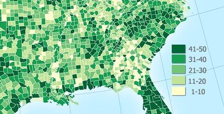 Тематическая картография: одномерные карты - 2