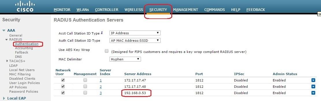 HotSpot с помощью Cisco WLC5508, FreeRadius, MySQL и Easyhotspot - 2