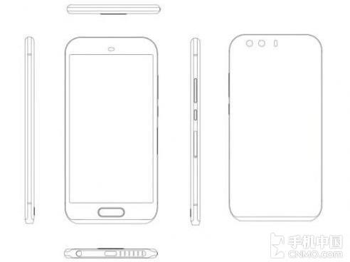 Первый эскиз смартфона Huawei P9 демонстрирует физическую кнопку Home и другие изменения