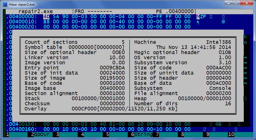 Патчим современное приложение для работы под Windows 2000 - 3