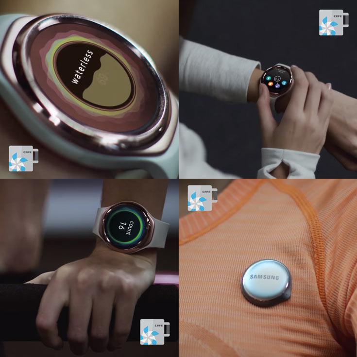 Браслет для фитнеса на биопроцессоре Samsung внешне напоминает умные часы Gear S2