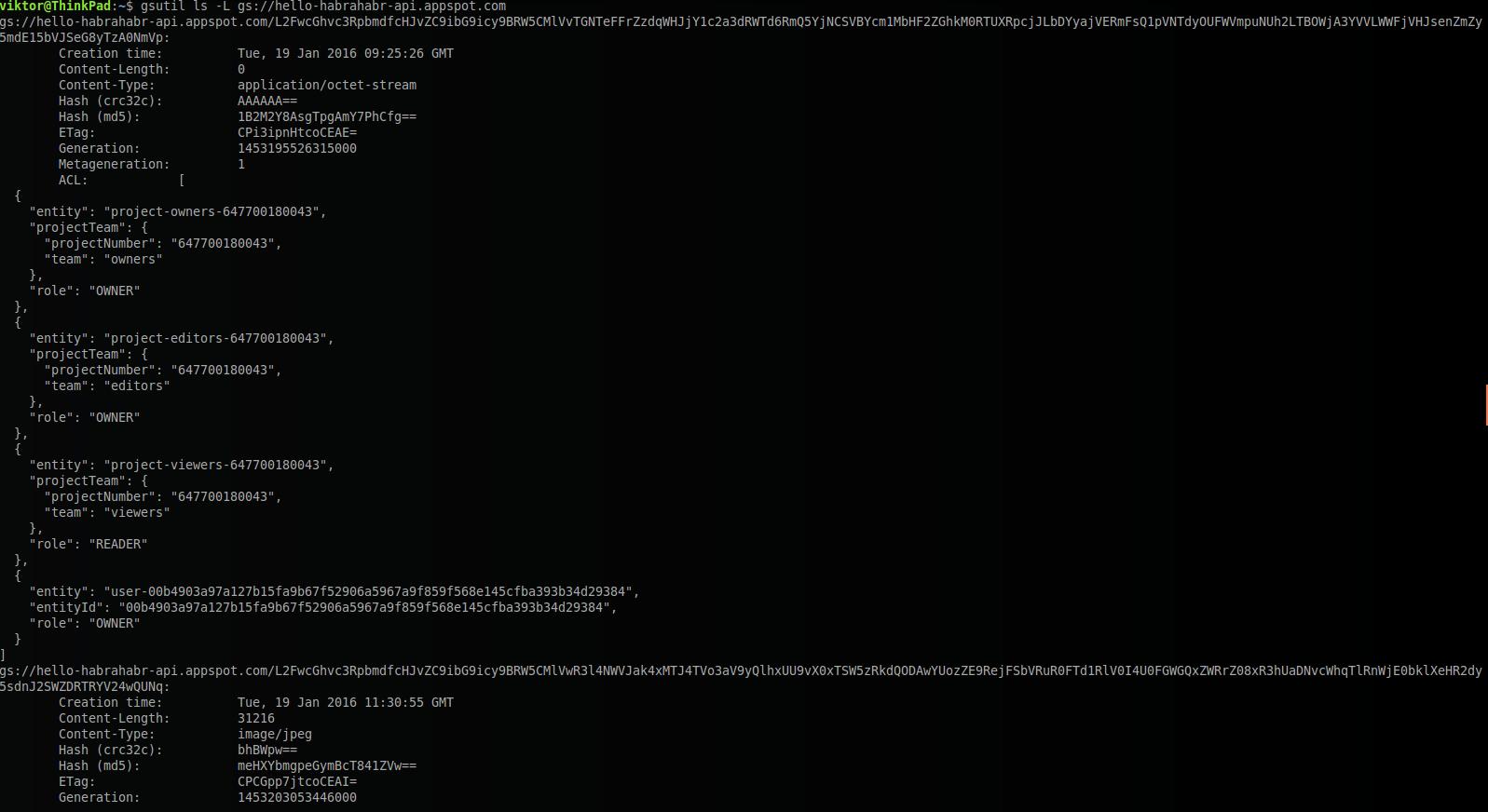 Google Cloud Storage c Java: изображения и другие файлы в облаках - 7