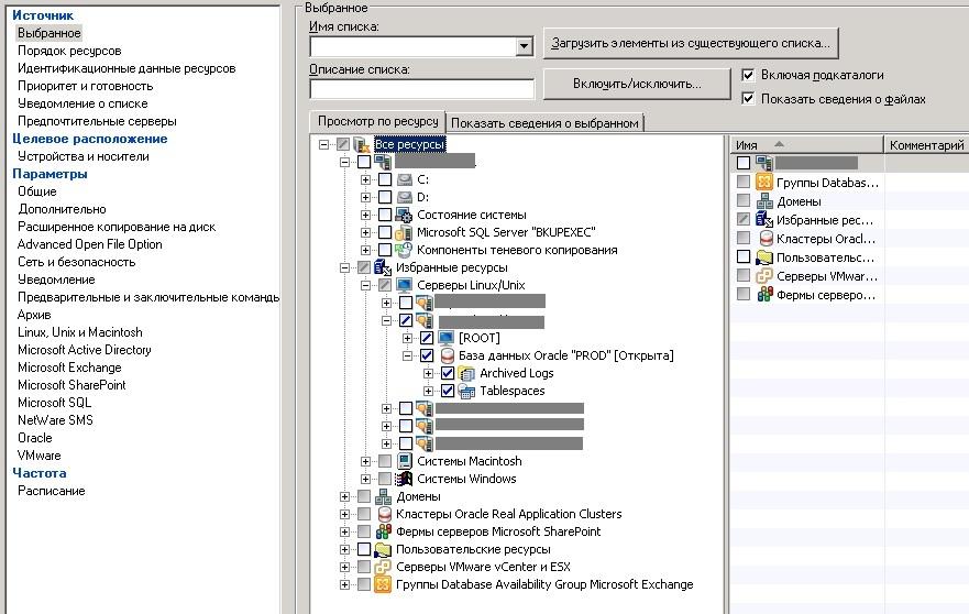 Symantec Backup Exec: резервное копирование Oracle, установленного на Linux - 1
