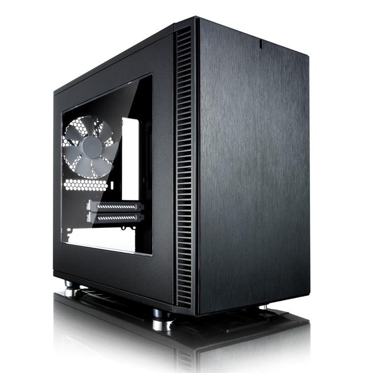 В корпусе Fractal Design Define Nano S есть два слота для карт расширения и четыре места для накопителей
