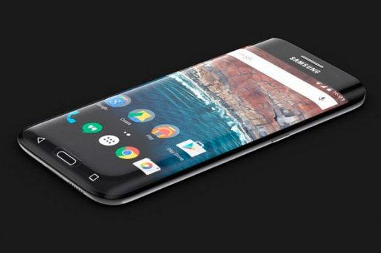 Концепт Samsung Galaxy S7 с обтекаемым с трех сторон дисплеем