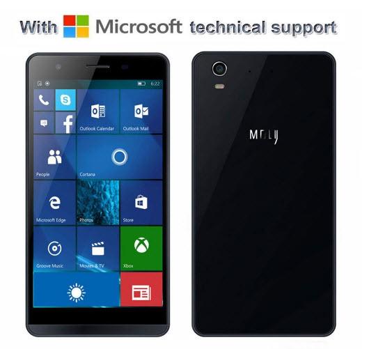 Толщина смартфона Coship Moly X, который работает под управлением Windows 10 Mobile, составляет всего 6,9 мм