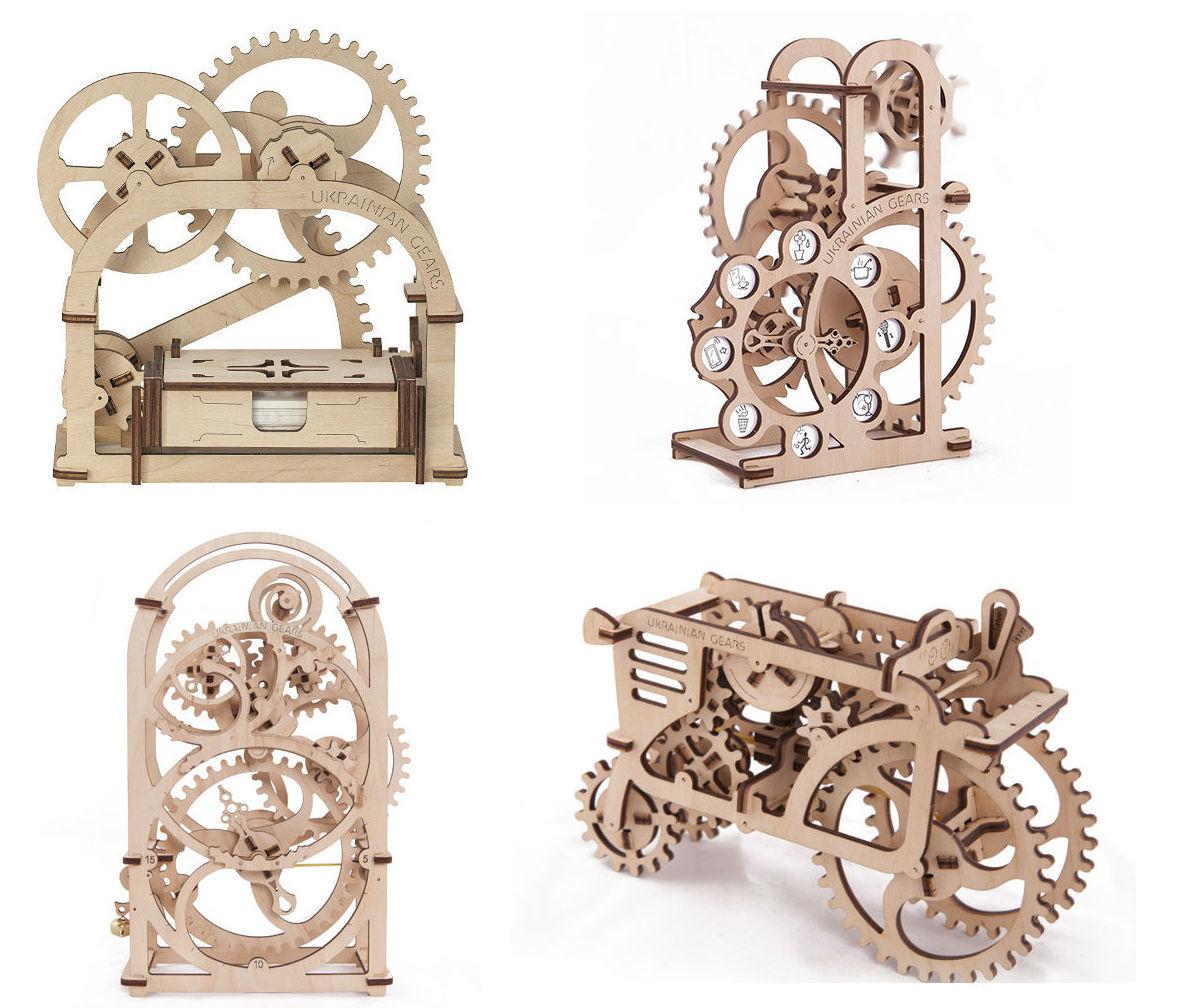 Ugears — деревянные механические 3D-пазлы с Kickstarter - 3