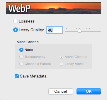 WebP Photoshop plugin