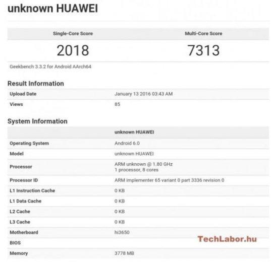 Huawei P9 с процессором Kirin 950 способен превзойти по производительности iPhone 6S с A9
