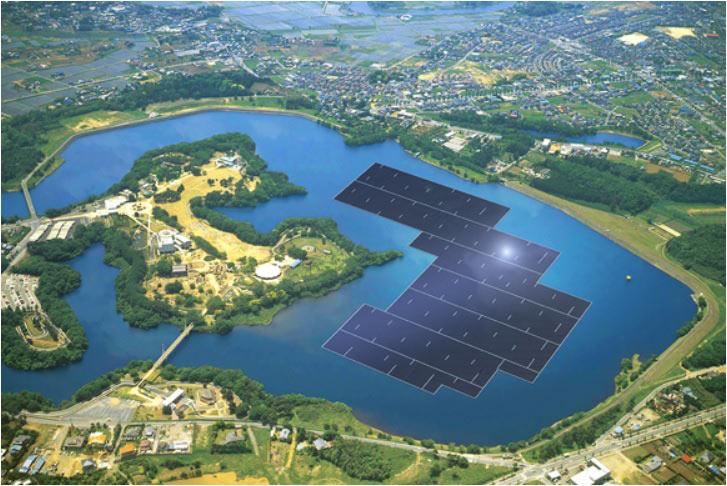 TC-Lease и Kyocera начали строительство крупнейшей в мире плавучей солнечной электростанции - 1