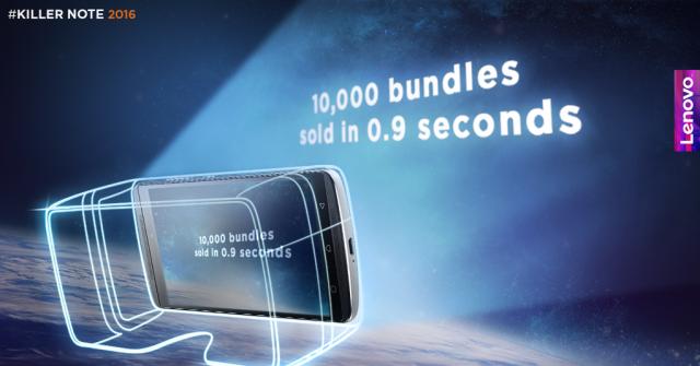 Lenovo продала 10 тыс. комплектов Lenovo Vibe K4 с гарнитурой AntVR менее чем за секунду