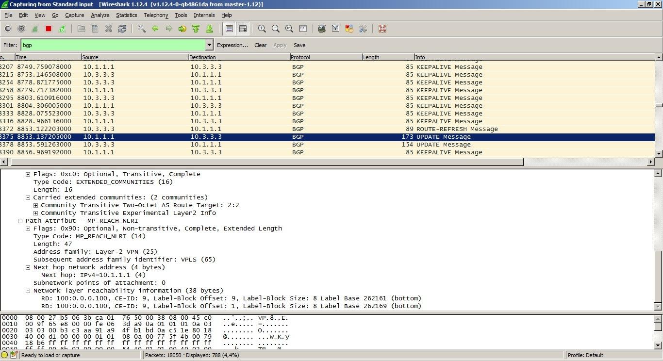 VPLS. Распределение меток с помощью BGP - 14