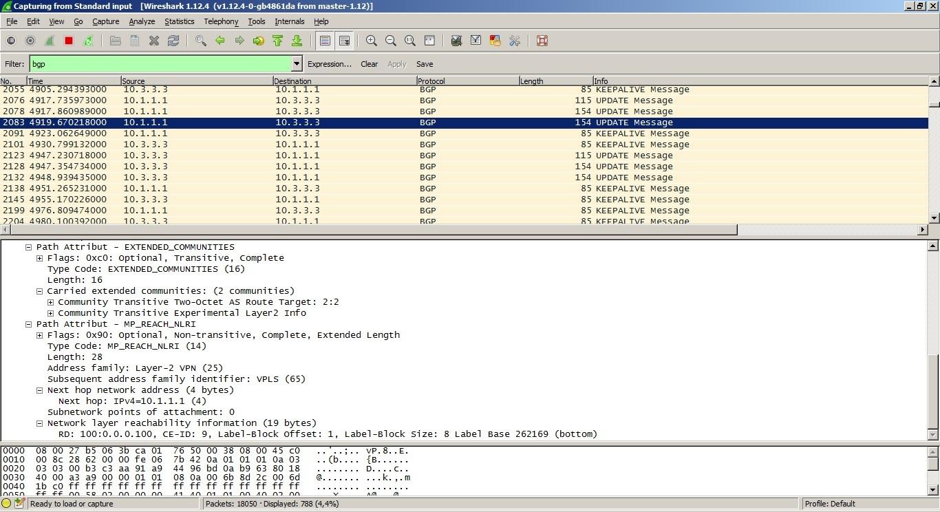 VPLS. Распределение меток с помощью BGP - 5