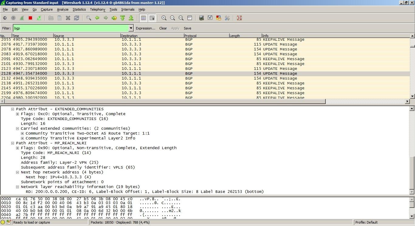 VPLS. Распределение меток с помощью BGP - 6