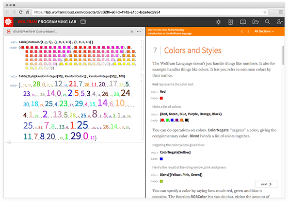 Представляем бесплатную лабораторию программирования Wolfram Programming Lab для изучения языка Wolfram Language - 3