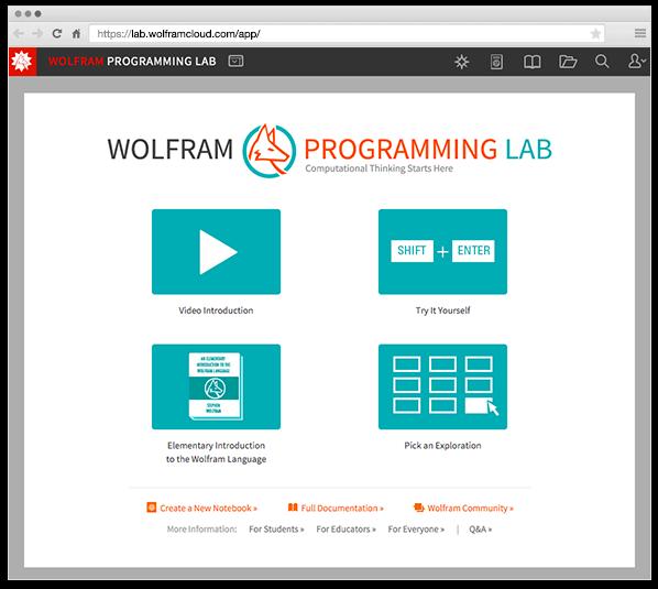 Представляем бесплатную лабораторию программирования Wolfram Programming Lab для изучения языка Wolfram Language - 1